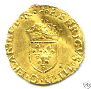 HENRI III (1574-1589) ECU D'OR AU SOLEIL 1584 I LIMOGES RARISSIME
