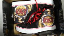 Slayer Vans Vans X Slayer Sk8 Hi Top Sk-8 Skate Shoe SIZE 10