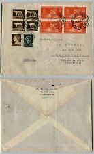 REGNO-Quartina 20c NOZZE+quartina Imperiale-Busta Milano->CANNSTATT 28.5.1930