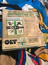 Vtg 50s P.S. OLT PEKIN ILL REGULAR GOOSE CALL MODEL NO.L-22 GK 101 Record LP Kit