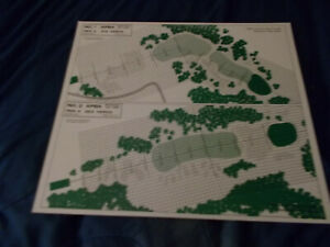 APBA Professional Golf Game PINE VALLEY Course -  Set of 9 Boards RARE NICE!!!