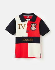 Joules Boys Harry Embellished Polo Shirt  - Red - 3Yr