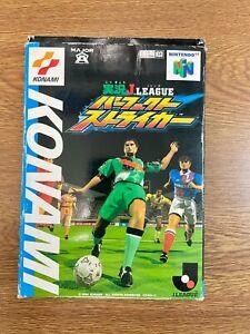 Jikkyo J-League Perfect Striker 64 Nintendo 64 N64 Japan JP