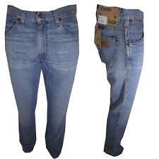 Jeans Wrangler Uomo w31 Alaska Pantaloni Denim Regular Azzurro Dritto Vita alta