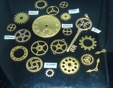 20 STEAMPUNK  METAL CHARMS IN  A GOLD COLOUR  COGS AND GEARS (SPECIAL OFFER)