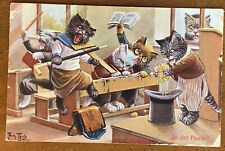 A/S Arthur Thiele, Dressed Cats, In Der Pause, At Recess School Chaos PM 1909