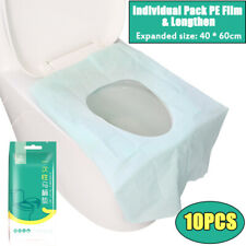 10pcs Pack Disposable Toilet Seat Covers Paper Travel Biodegradable Sanitary-USA