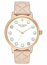 NEW Kate Spade New York KSW1069 Women's Metro Vachetta Rose Gold Leather Watch