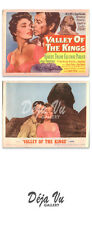 Valley of the Kings Title Card - Lobby Card Set of 2 - Robert Taylor - 1954 - VF