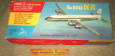 Original box Plastic model kit Frog cat# F351 BOAC DC-7C 1/96th unbuilt decals