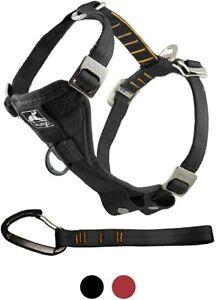 Kurgo Enhanced Strength Tru-Fit Smart Harness with Seatbelt Tether Black Small