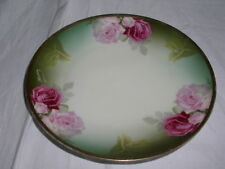 """Thomas Bavaria Hand Painted Signed Pink Rose Pattern 7½"""" Collector Plate"""