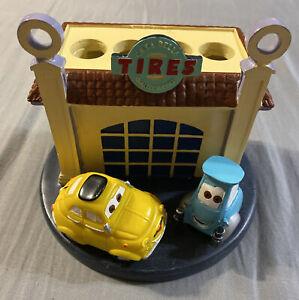 Disney Pixar Cars Luigi & Guido Tires Ceramic ToothBrush Holder