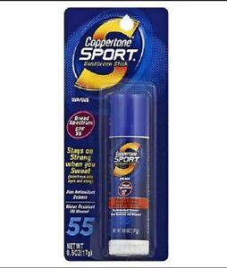 Coppertone Sport Sunscreen Stick Water Resistant Broad Spectrum SPF55 .6 Oz