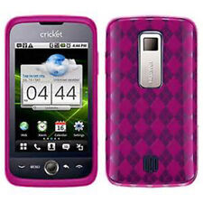 For Huawei Ascend M860 TPU CANDY Gel Flexi Skin Case Phone Cover Hot Pink Plaid