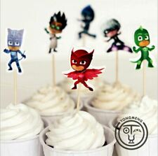 24pc PJ Masks Cupcake Toppers Birthday Party Decoration