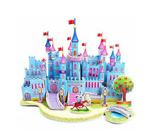 Hot Baby Boys Girls Paper 3D Castle Puzzle Handmade Development Toys Game Gift