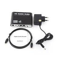 Digital a Analógico 5.1 Audio Gear Adaptador Decodificador de Sonido SPDIF AC3