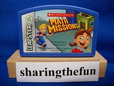 Leapster SCHOLASTIC MATH MISSIONS Game Cartridge Leap Frog