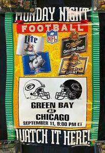 "1995 MONDAY NIGHT FOOTBALL ""GREEN BAY AT CHICAGO"" 20X30"" POSTER PB16"