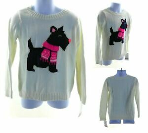Carter's Sweater Toddler and Infant Cream with Blue Scottie Dog Long Sleeve
