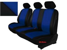 Blue Eco-Leather Universal VAN Seat Covers 2+1 for Volkswagen T4 / T5