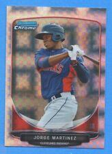 2013 Bowman Chrome Prospects X-Fractor #BCP145 Jorge Martinez Indians