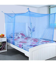 Shahji Creation King Size Single Bed Mosquito Net with cotton brodar 4X6.5 Feet