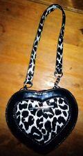 River Island Black & White Print Heart Shape hand  Bag
