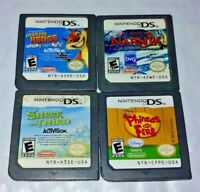 Disney Over The Hedge, Narnia, Shrek, Phineas Ferb Nintendo DS Lite 2ds 3ds Lot
