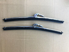 """MG MGB GT GWB168 11"""" Long, 7mm Wide Polished STAINLESS Pair Wiper Blades"""