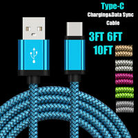 USB-C Type-C 3.1 Fast Charging Data Charger Cable Fr Samsung Galaxy S8/S9 Plus