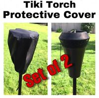 2 Tiki Torch Protective Covers For Garden Torches