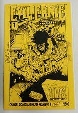 Chaos! Evil Ernie The Resurrection #1 Ashcan Signed Steven Hughes Brian Pulido