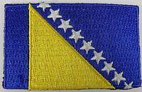 Bosnien und Herzegowina Aufnäher gestickt,Flagge Fahne,Patch,Aufbügler,6,5cm,neu