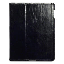 Ultra Slim Black Nappali Hand-Crafted Genuine Leather Case for Apple iPad 2/3/4
