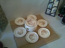 Marks & Spencer Harvest 6 melamine coasters in caddie lovely condition...