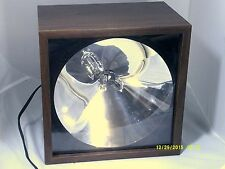"""SUPER STROBE Model 1091 Wood Grain Box 9X8.5"""" with Speed Control made in USA-VTG"""