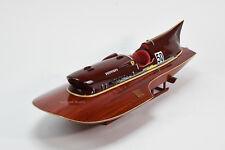 "Ferrari Hydroplane 31"" - Handcrafted Wooden Racing Boat Model"