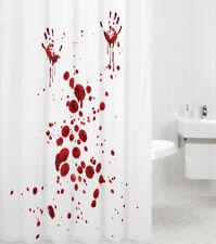 DUSCHVORHANG TEXTIL WANNENVORHANG BADEWANNENVORHANG BLOOD HANDS 180 x 180 cm