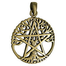 Bronze Tree Pentacle Pentagram Pendant Dryad Design Wiccan Wicca Pagan Jewelry