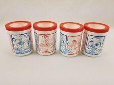 Lot of 4 Vintage Crown Moulding Styrofoam Coozie Koozie Foam Can Coolers Holder