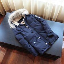 Fashion Winter Hooded Duck Down mens Jacket Parka Coat Warm Fur Collar Outerwear