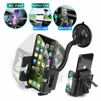 Universal Car Windshield Holder Ver4 Suction Cup & Air Vent Swivel Phone Holder