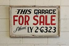 Vintage Industrial Factory Wooden Advertising Sign For Sale Garage Hand Painted