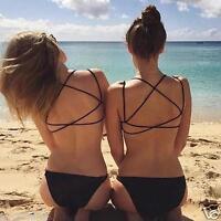 Hot Sexy Womens Crop Tops Strap Vest Cut Out Shirt Summer Beach Tank Top Bra