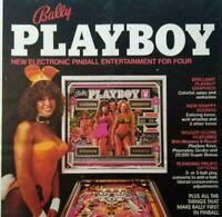Bally Playboy Pinball Machine Color Trade Magazine AD Sexy Playmates Hugh Hefner