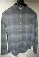 FIVE FOUR MARK MCNAIRY MENS WINDOWPANE PLAID COTTON LONG SLEEVE SHIRT SIZE S NWT