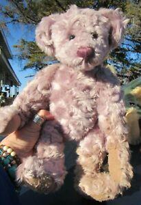"VINTAGE TEDDY BEAR 13"" PURPLE LILAC BARTONS CREEK ARTIST LENORE DEMENT GUND CUTE"