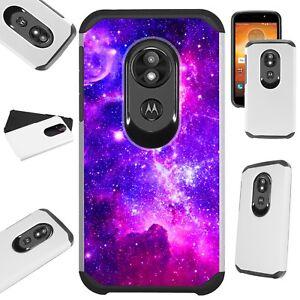 FUSION Case For Motorola Moto G7 Power/Supra/Plus Phone Cover PURPLE UNIVERSE